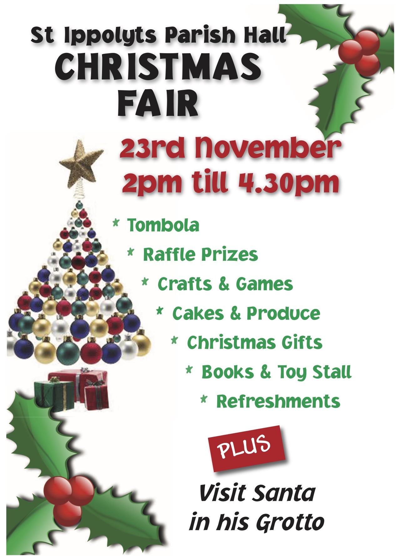 Parish Hall Christmas Fair, 23rd November 2019