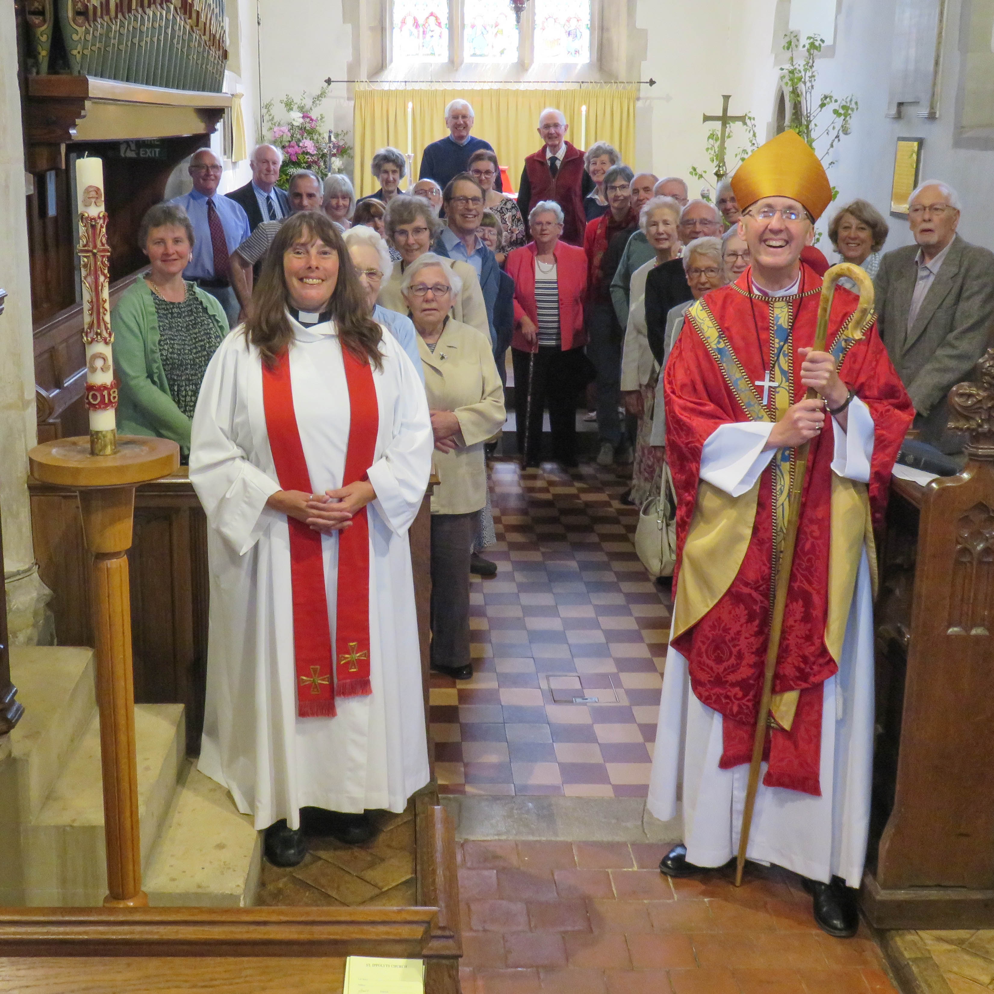 Bishop of Hertford takes the 08:00 and 09:15 Holy Communion Service today at St Ippolyts Church