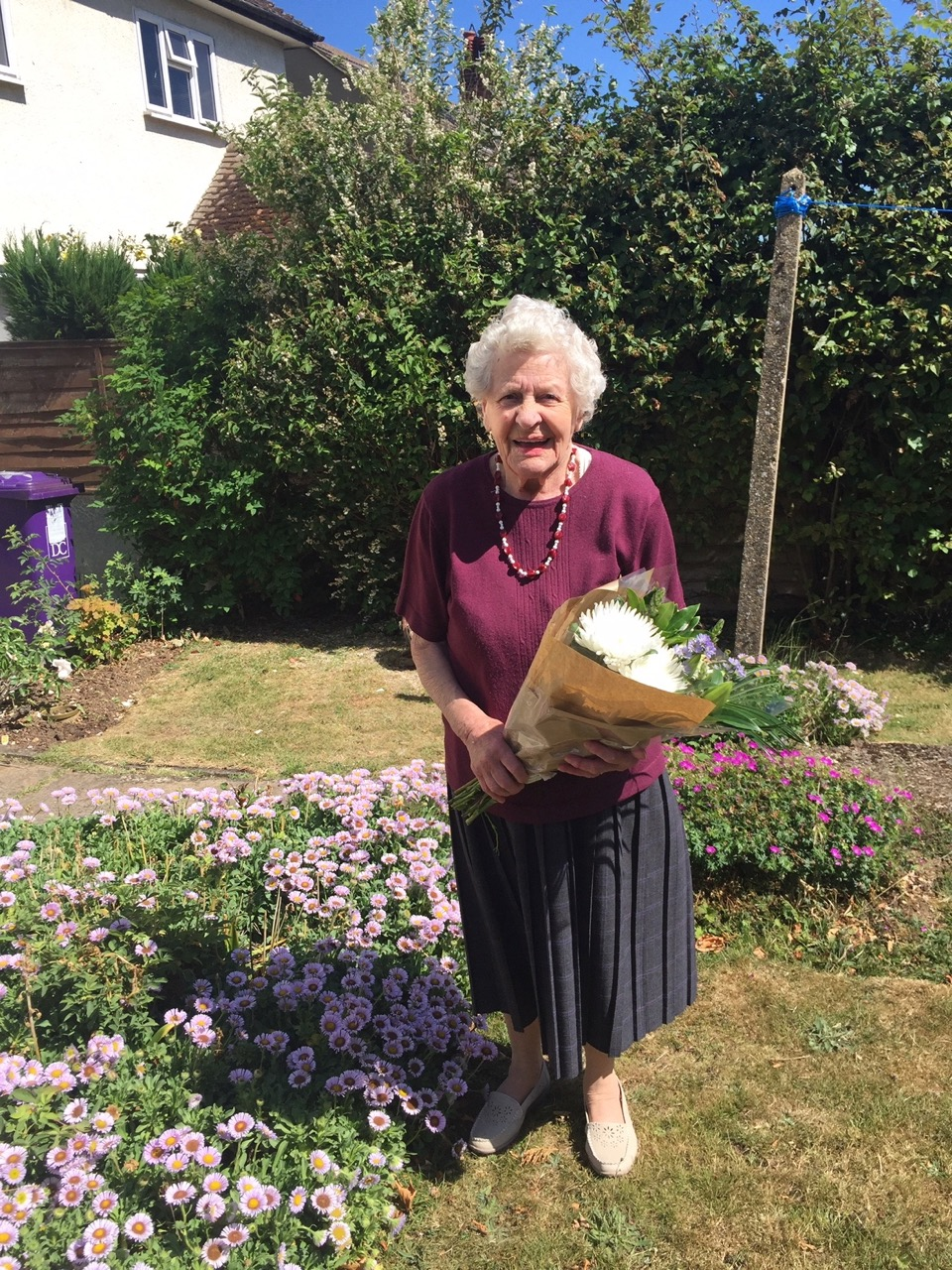 Happy Birthday and Congratulations to Mrs Andrews on her 90th Birthday.