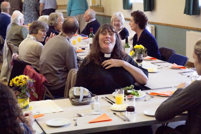 50 St Ippolyts Parishioners enjoy a Harvest Lunch.
