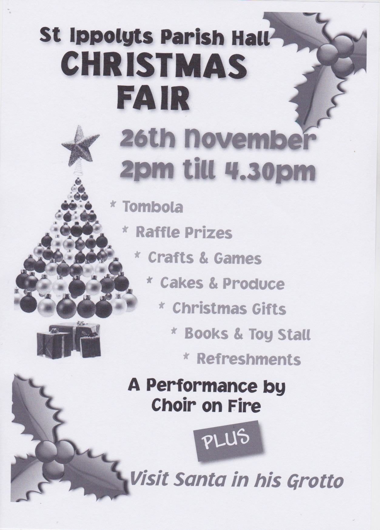 161126 Parish Hall Xmas Fair Poster 2016