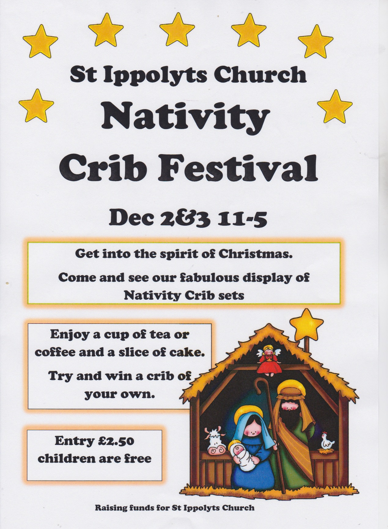 Nativity Crib Festival, 2nd and 3rd December