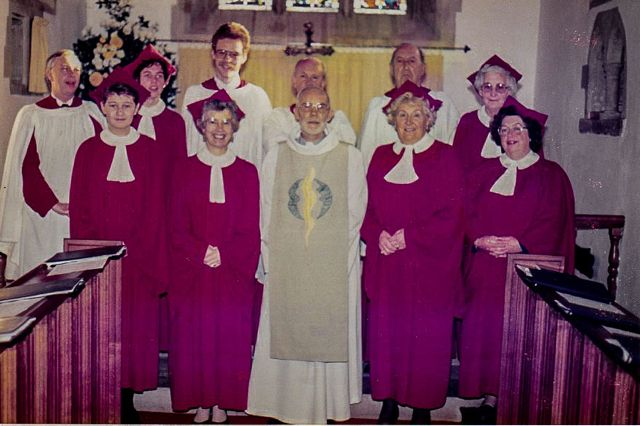 C Date unknown Photo of St Ippolyts Church Choir with Revd Keith Allison c