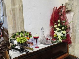 IMG 0209 rVisit to a winery  St Ippolyts Flower Festival 28th May 2016