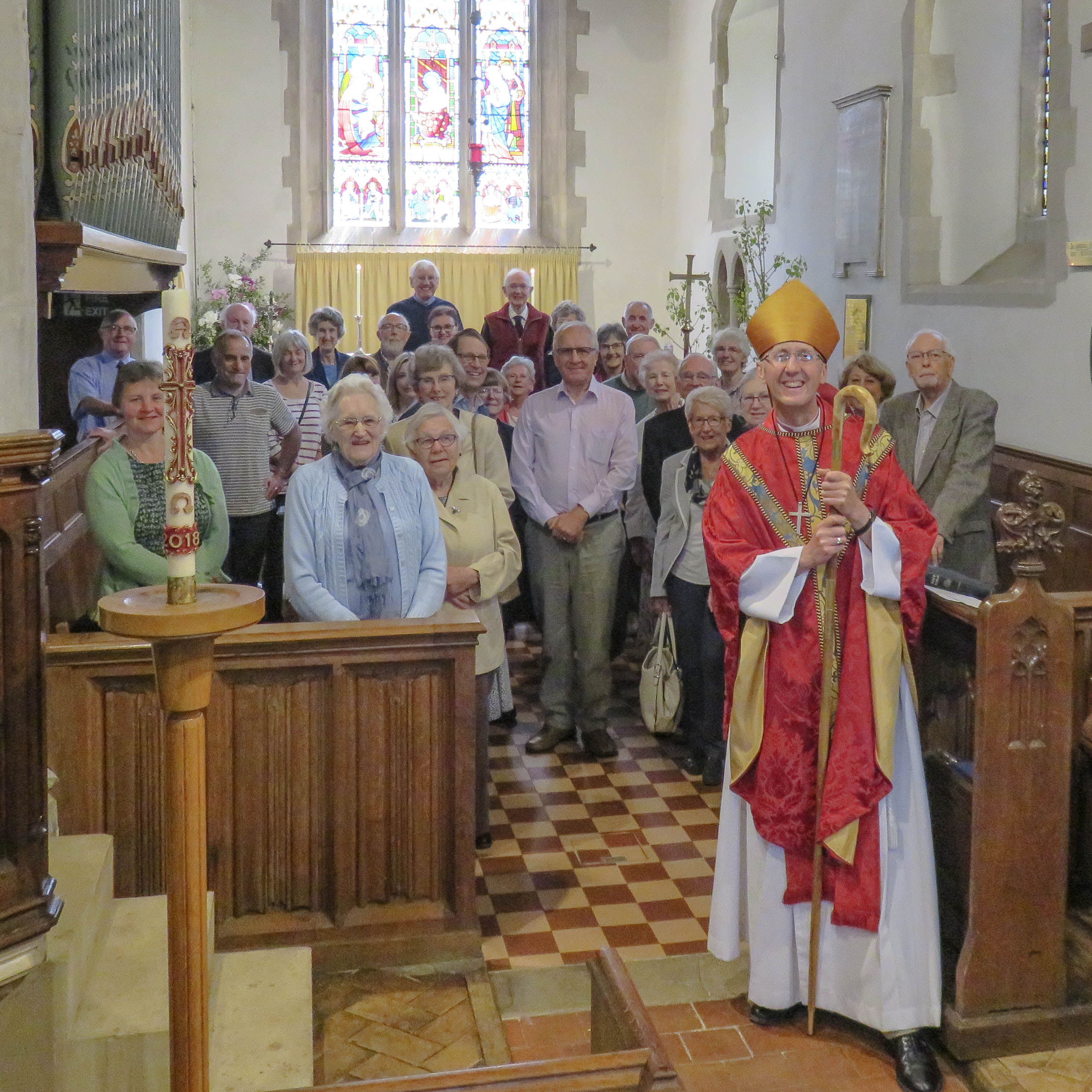 IMG 3576 Bishop of Hertford with Congregation and M  at St Ippolyts 20th May -3576