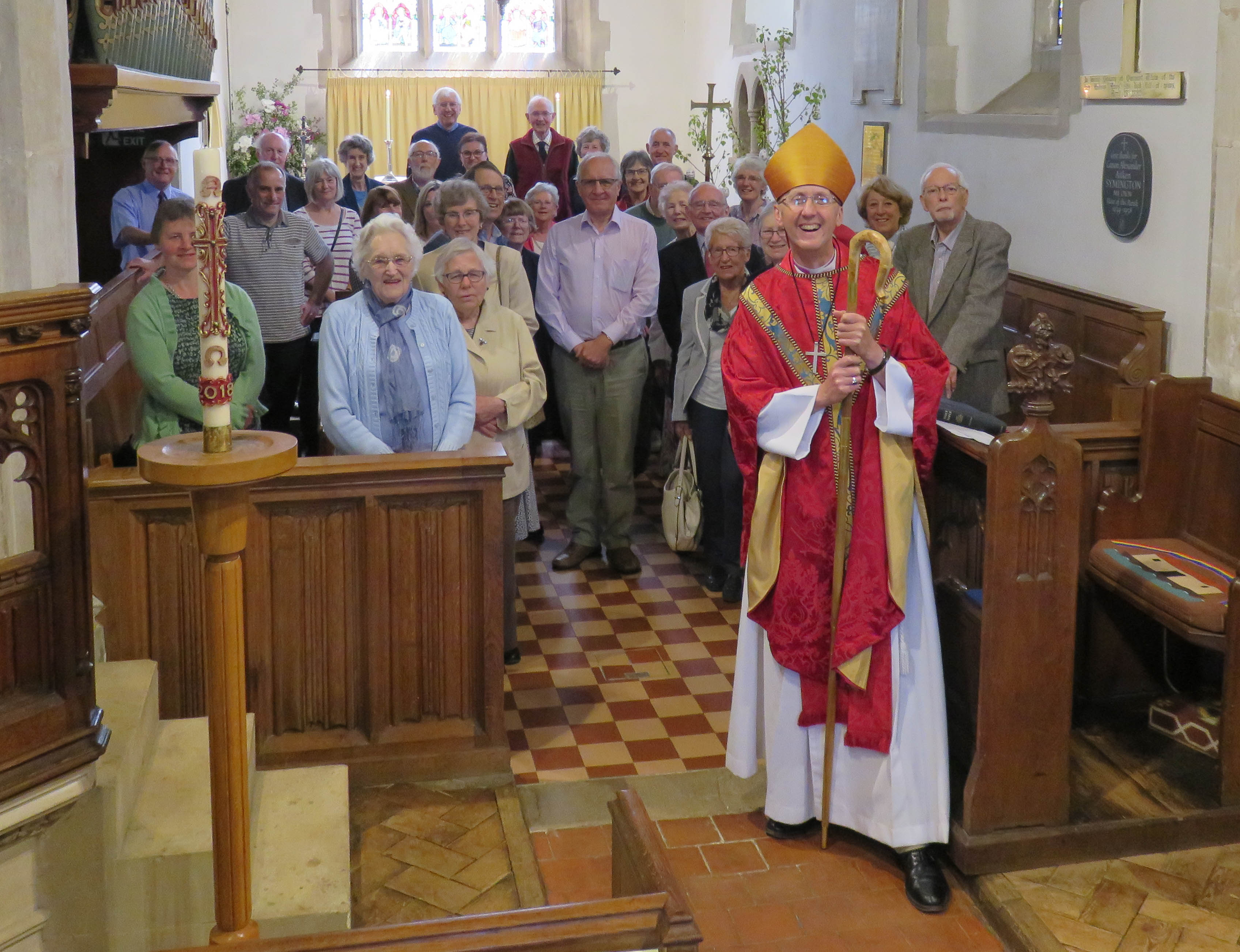 IMG 3577 Bishop of Hertford with Congreagation and M at St Ippolyts 20th May 2018-3577